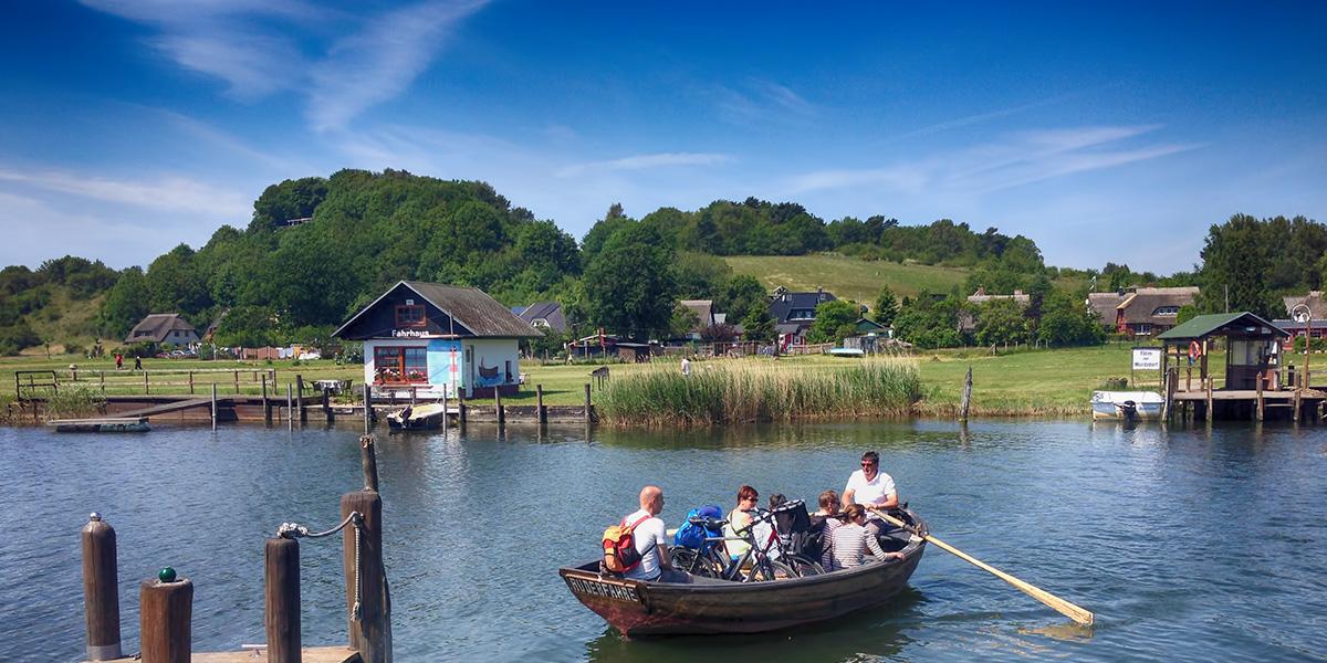 Fähre nach Sellin in Moritzdorf über den Selliner See